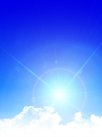 Sky clouds landscape background 向量圖像