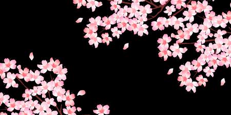Wiosna kwiat wiśni w tle Ilustracje wektorowe