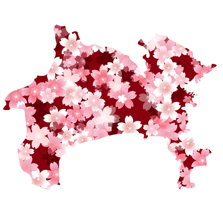 cherry blossoms: Kanagawa spring cherry blossoms Illustration