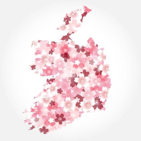 Ireland  map countries Cherry