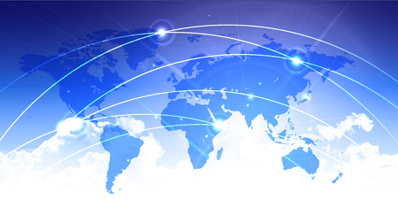 空技術背景を世界地図 写真素材 - 50867168