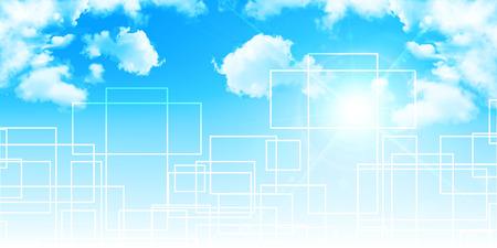 하늘 푸른 하늘 기하학적 배경 스톡 콘텐츠 - 50867169