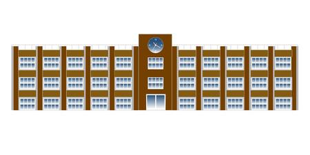 school: School school building icon Illustration