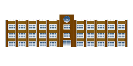 School school building icon Ilustracja