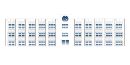 Escuela de icono de edificio escolar