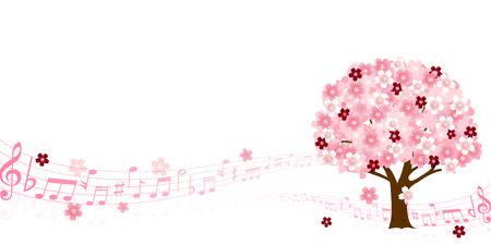music background: Cherry Spring music background