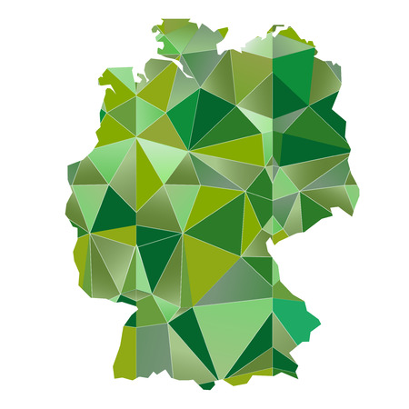 deutschland karte: Deutschland Karte Land Symbol Illustration