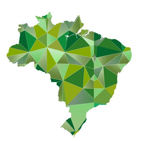 brazil map: Brazil Map country icon Illustration