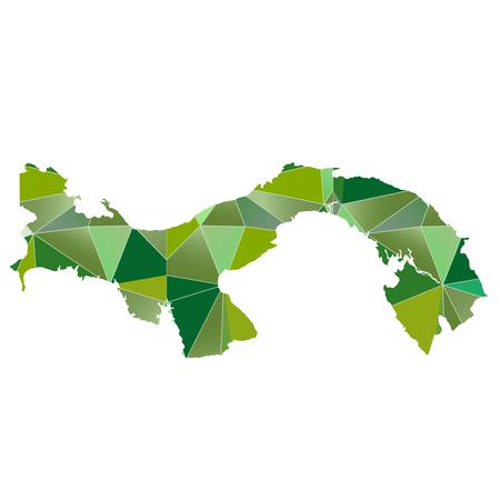 panama: Panama map country icon Illustration