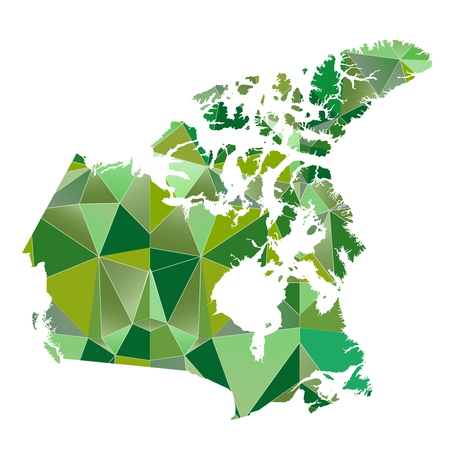 country: Canada map country icon Illustration