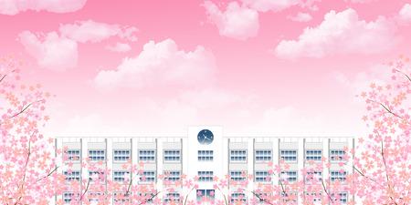 Cherry school spring background