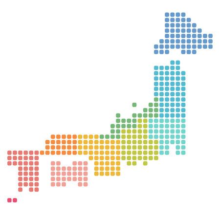 Japan Karte Symbol Symbol Standard-Bild - 51421816