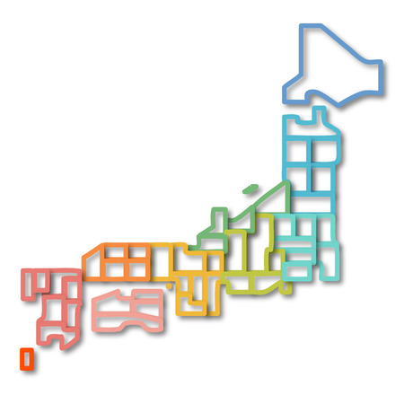 kanto: Japan map symbol icon