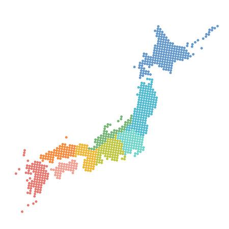 Japan Karte Symbol Symbol Standard-Bild - 51421826