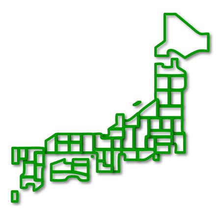 okinawa: Japan map symbol icon