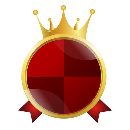 王冠メダル フレーム アイコン