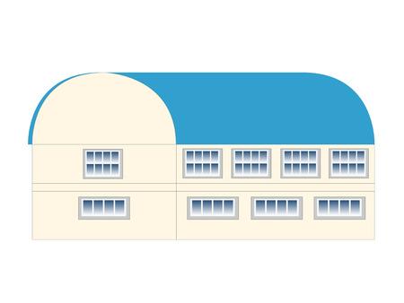 gymnasium: Gymnasium building background icon