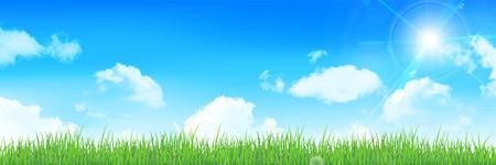 clouds sky: Sky clouds landscape background Illustration