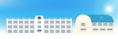 gymnasium: School gymnasium building background