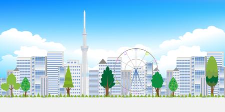 grasslands: Tokyo tree landscape background