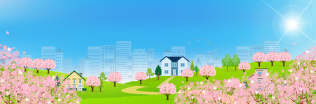 Cherry Spring House background