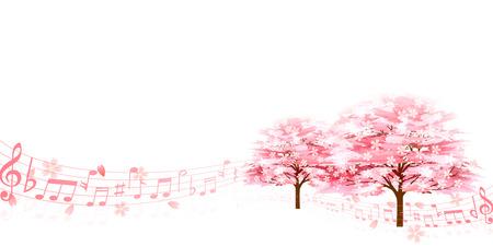 桜春の花背景