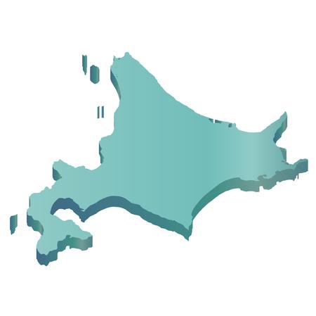 hokkaido: Hokkaido map icon green