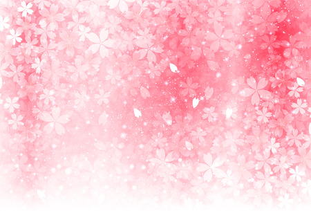 Cherry spring flower background 일러스트