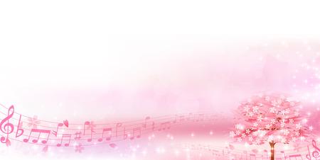 light pink: Cherry spring flower background Illustration