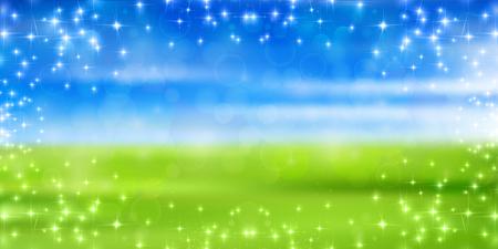 grassland: Sky prairie landscape background Illustration