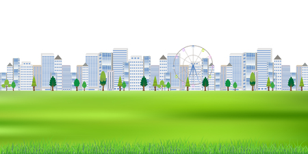 Building urban landscape background