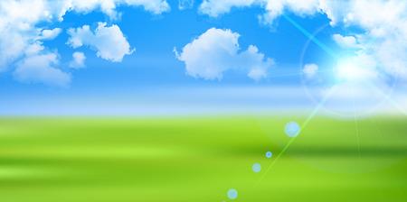 grasslands: Sky prairie landscape background Illustration