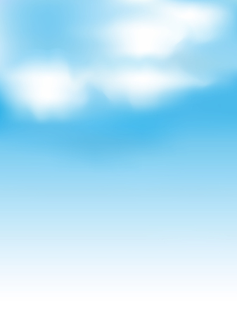 blue and white: Sky clouds landscape background Illustration