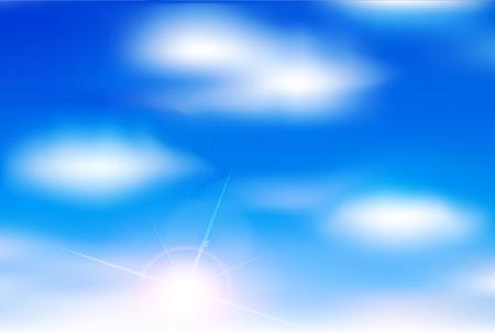 early summer: Sky clouds landscape background Illustration