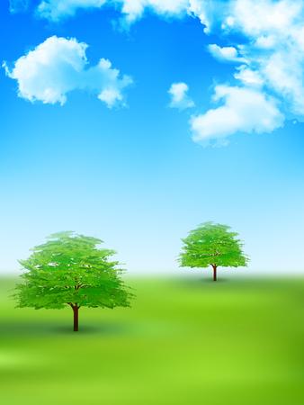 green eco: Tree leaves fresh green background