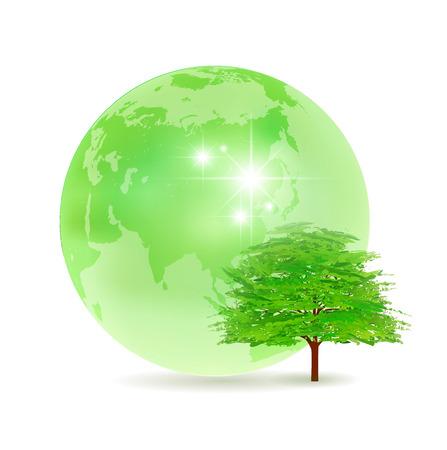 green world: Earth tree fresh green icon