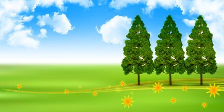 grasslands: Pollen cedar tree background
