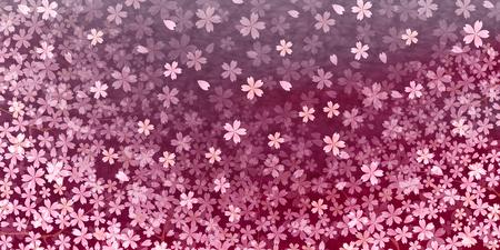 blossom background: Cherry spring flower background Illustration