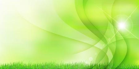 新鮮な緑の芝生の風景の背景