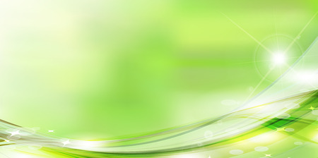 Fresh green green sky background Ilustracja