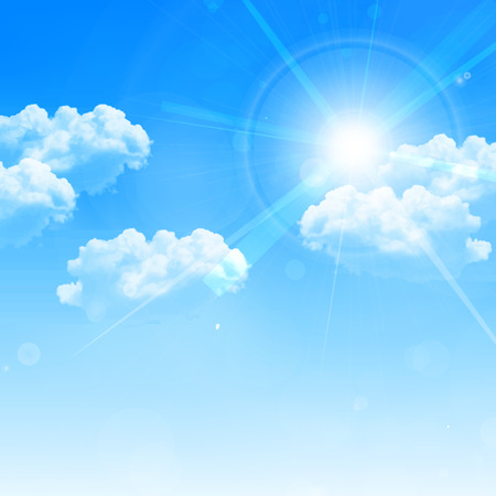 Sky clouds landscape background 矢量图像