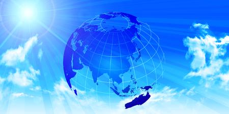 Sky Earth world background