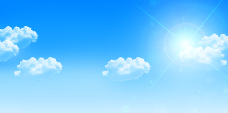 sky and clouds: Sky clouds landscape background Illustration