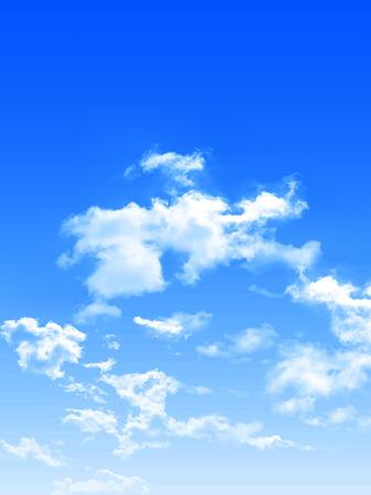 Sky clouds landscape background Illustration