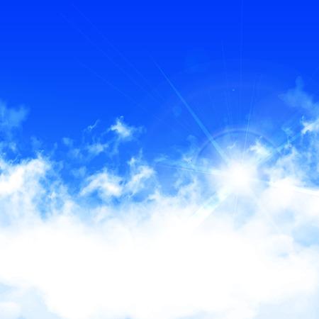 clouds blue sky: Sky clouds landscape background Illustration