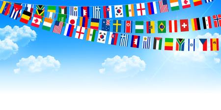 meet: Athletic meet national flag sky background