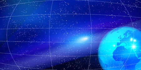 celestial body: Earth and Space star background Illustration