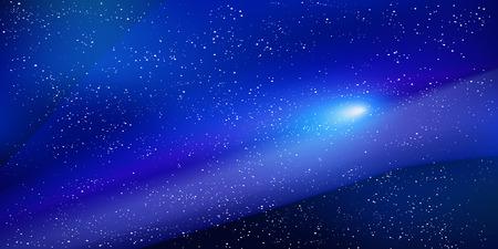 Space sky ster achtergrond Stock Illustratie