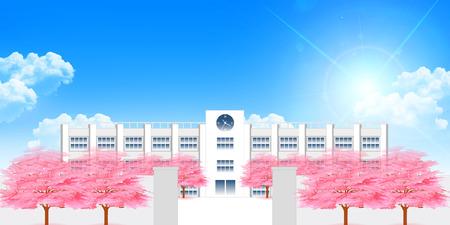École de Cherry Spring background
