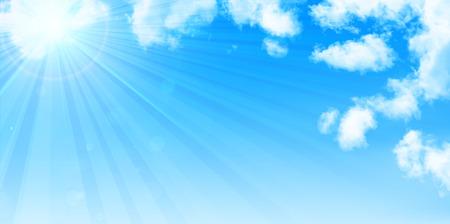 summer sky: Sky clouds landscape background Illustration